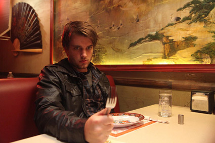 <b>Chase Williamson copes with the aftermath of &quot;the soy sauce,&quot; the mysterious drug that changes his life in &quot;John Dies at the End.&quot;</b> <br>Reminder Publications submitted photo