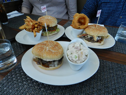 <b>Luxe Burger Bar impressed the staff of Reminder Publications with a superior burger experience.</b> <br>Reminder Publications photo by G. Michael Dobbs