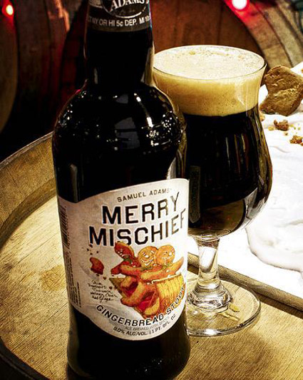 <b>Samuel Adams' Merry Mischief gingerbread stout is an enjoyable beer chock full of sugars and spices that remind one of holiday treats.</b> <br>Photo courtesy of Boston Beer Company