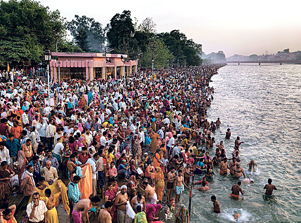 "<strong>In one section of ""Watermark,"" the filmmakers explore the largest pilgrimage in India, one in which millions of people descend upon the Ganges River to cleanse their sins.</strong><br> Reminder Publications submitted photo"