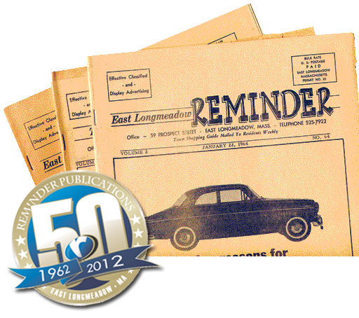 Copies of the East Longmeadow Reminder that date back to 1964