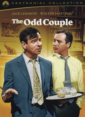 Film version of 'The Odd Couple' a different view of Oscar and Felix dvd.jpg