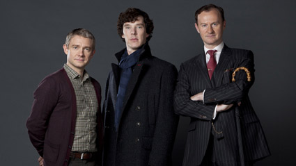 <b>Martin Freeman, Benedict Cumberbatch and Mark Gatiss of &quot;Sherlock&quot;.</b> <br>Reminder Publications submitted photo