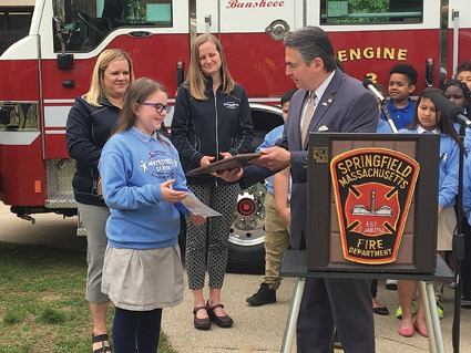 Fourth-grader names fire truck in school-wide contest